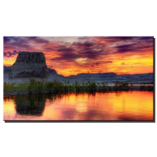 Arizona Lake Sunset Print Canvas for Home Wall Art Decor Bedroom Decoration