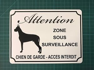 """Panneau """"attention Au Chien"""" 15x20cm Alu - Neuf-"""