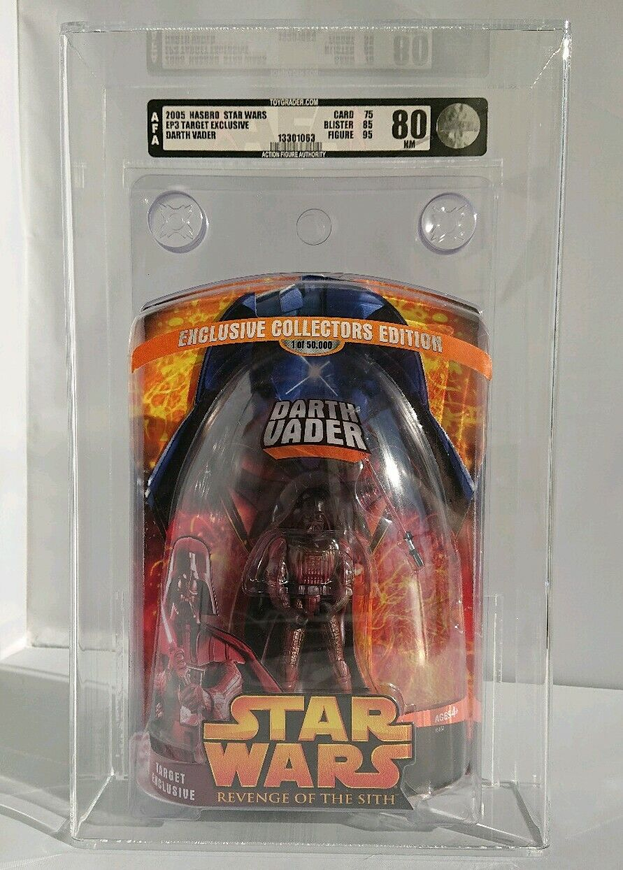 STAR WARS DARTH VADER TARGET EXCLUSIVE 2005 HASBRO GRADED U85 MINT UKG AFA