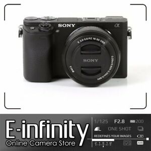 NUEVO Sony Alpha a6300 Mirrorless Digital Camera with 16-50mm Lens Black