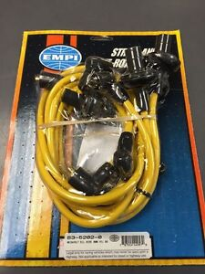 VW-bug-and-Ghia-plug-wire-set-8mm-Yellow