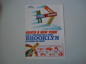 advertising Pubblicità 1971 GOMME BROOKLYN CHEWING GUM PERFETTI