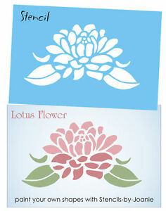 Stencil 6 lotus flower asian spiritual life art summer garden home image is loading stencil 6 034 lotus flower asian spiritual life mightylinksfo