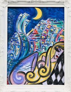 Margarita-Bonke-Malerei-Zeichnung-painting-City-Stadt-surrealismus-Erotica-Akt-1