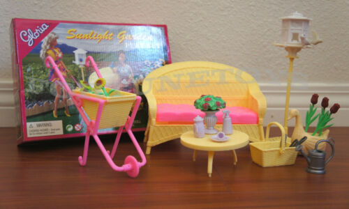 NEW GLORIA DOLL HOUSE FURNITURE SUNLIGHT GARDEN 9926