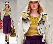$2995 Burberry Prorsum 8 10 42 Crop Crochet Beads Parka Jacket Women Gift ITALY