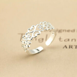 925-Solid-Sterling-Silver-Plated-Women-Men-Fashion-Ring-Gift-SIZE-OPEN-H10