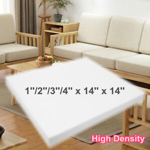 Details About 14 Square High Density Seat Foam Sheet Upholstery Cushion Replacement Firm Pad