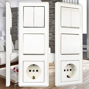 schalter serie mit vde serienschalter schuko steckdosen lichtschalter dimmer set ebay. Black Bedroom Furniture Sets. Home Design Ideas