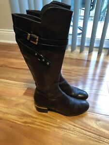 Cesare Paciotti Brown /Black with red leather inside leather boots Sz 38 969140