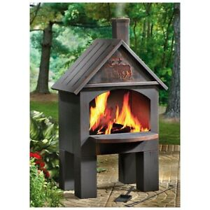 Image Is Loading Outdoor Fireplace Kits Pit Grate Chiminea Wood Stove