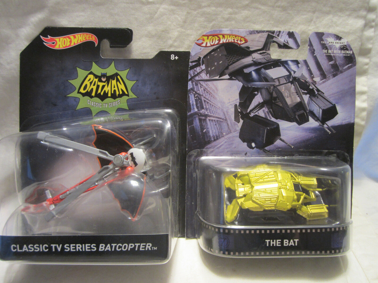 Hot Wheels Custom THE BAT Vehicle & Batman Classic TV Series BATCOPTER