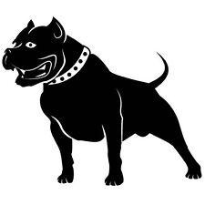 PITBULL BLACK DOG STANDING CAR DECAL STICKER