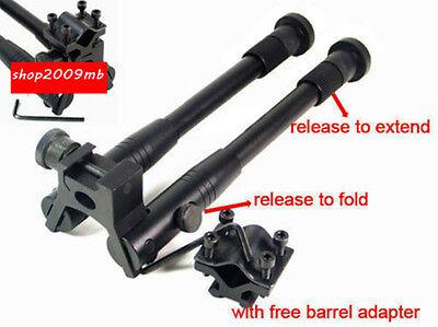 "8"" to 10"" Spring Return Metal Bipod Picatinny Rail Free Adapter For Rifle"