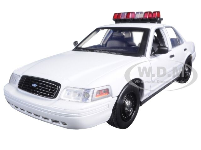 FORD CROWN VICTORIA WHITE UNMARKED POLICE CAR LIGHT SOUNDS 1 18 GREENLIGHT 12921