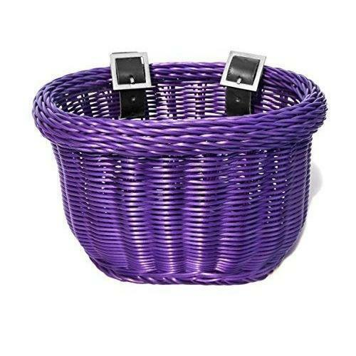ColorBasket Oval Child Front Bike Basket 10 x 7 x 6.75 Purple