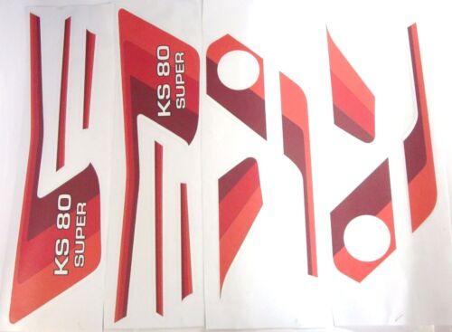 Zündapp Aufkleber Dekorsatz Typ 537 KS 80 Super Rot