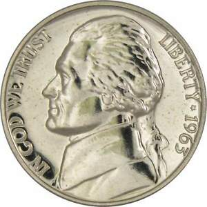1963-5c-Jefferson-Nickel-US-Coin-Choice-Proof