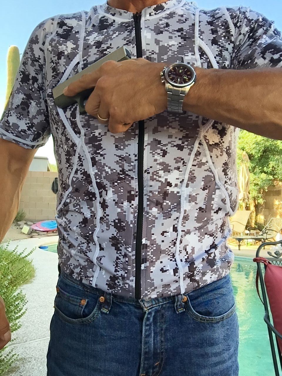 Conceal Carry Holster Shirt - Men's  XS  Concealed Tactical Gear CCW Clothing  inexpensive