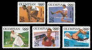 #2496-2500 25c Olympians, Individuales, Nuevo Cualquier 5=