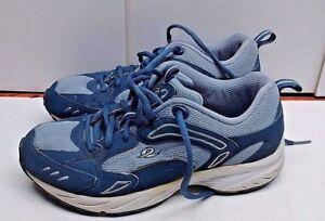 Energetic Easy Spirit Mica Blue Textile Athletic Lace Sneaker Running Women's Shoe 6m 37,5 Wide Varieties Athletic Shoes