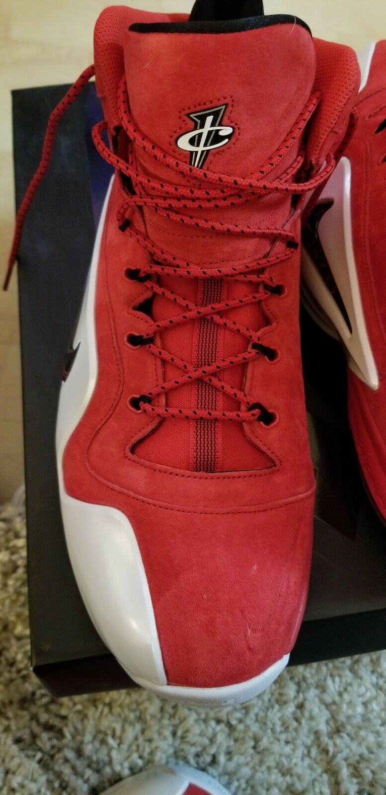 Zoom Penny VI REAIL 185 P Suede RED WHITE and Black