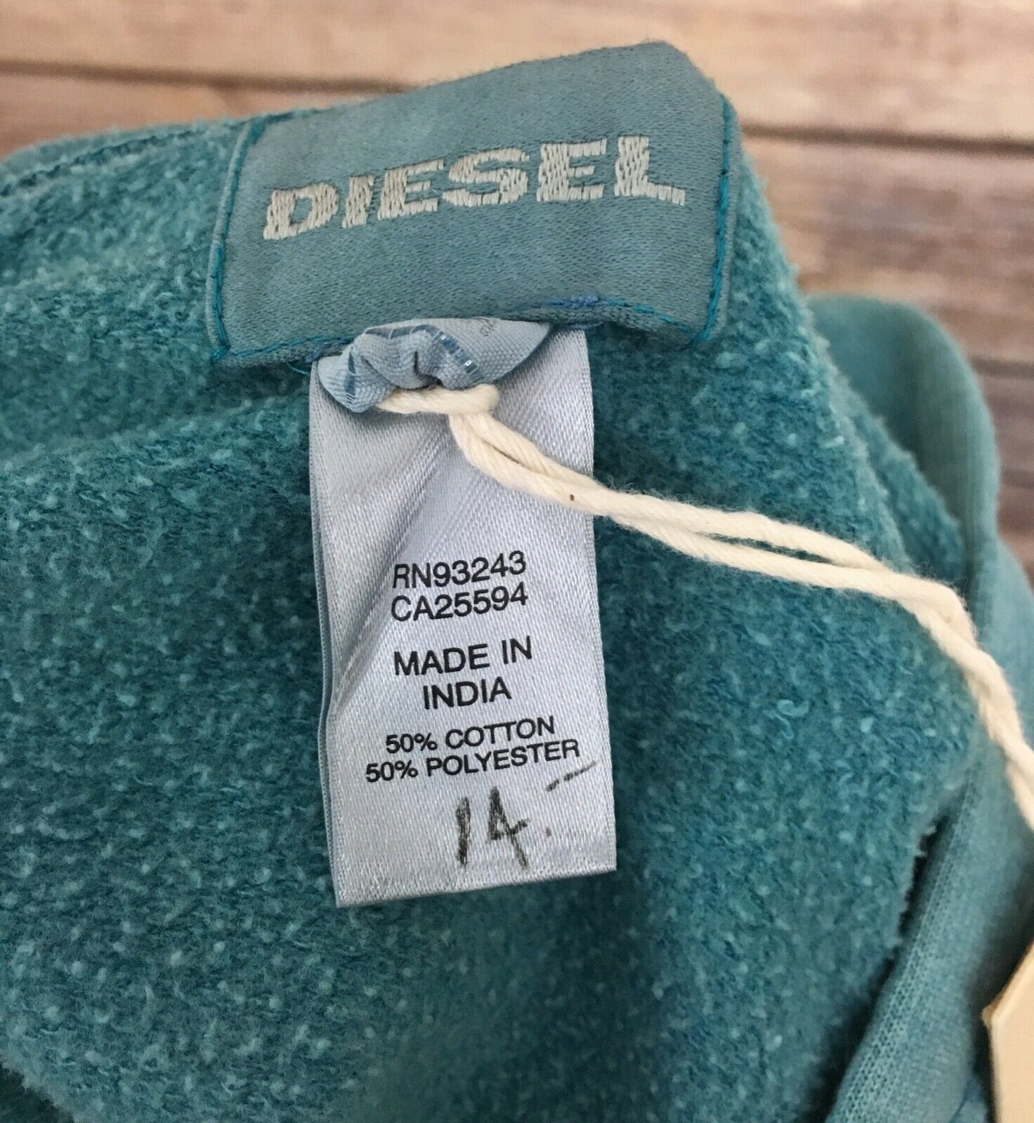 New Diesel Zip Up Up Up Hoodie (Size  M) 832155