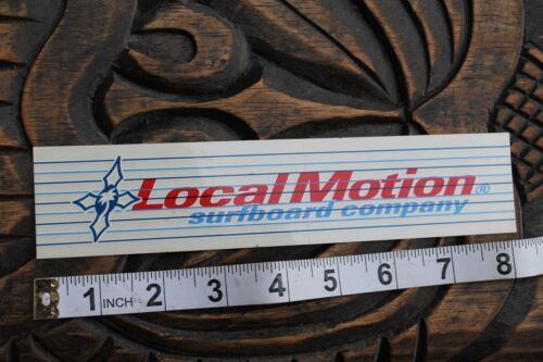 LOCAL MOTION Surfboard Company Hawaii Surfboards Vintage Surfing STICKER