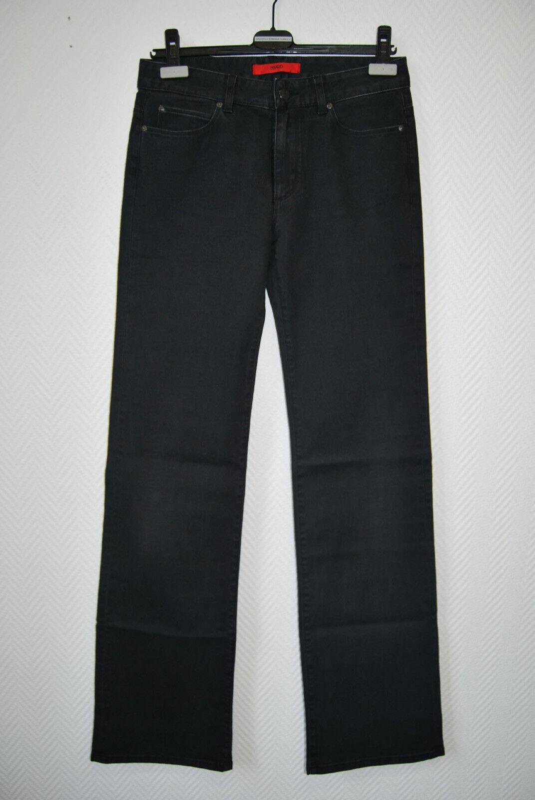 HUGO BOSS Jeans Gr 36 38 Hose DaMänner 28 34 Schwarz 199,- STRETCH D1315
