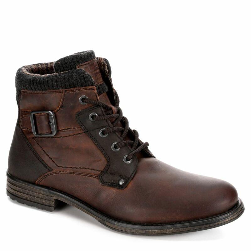 Am Shoes Herren Leder Schlicht Zehen Schnür Stiefel Schuhe