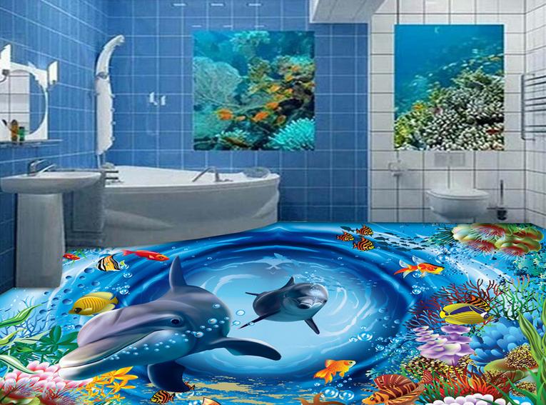 3D Ocean World 590 Floor WallPaper Murals Wall Print 5D AJ WALLPAPER AU Lemon