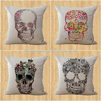 Wholesale 4pcs Sugar Skull Day Of The Dead Cushion Cover Living Room Decoration