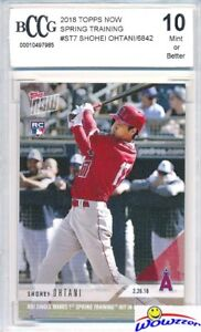SHOHEI OHTANI 2018 Topps Now #ST-7 FIRST PRINTED TOPPS HITTING RC BECKETT 10 MT