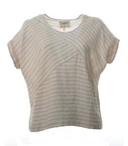 Fledermaus Beige Leinen Damen shirt In Aus Uqn18gxq