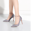 Women-039-s-Wedding-Party-Ankle-Strap-Bling-Buckle-Bride-New-Sequins-Red-High-Heels thumbnail 3