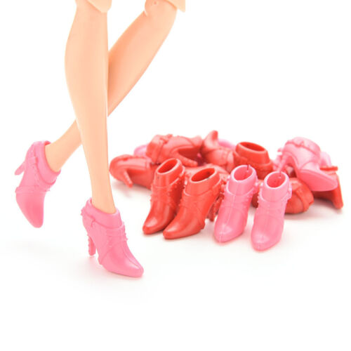 10 Pairs Mix Pairs High Heels Shoes Short Boots For Doll  Random OJ