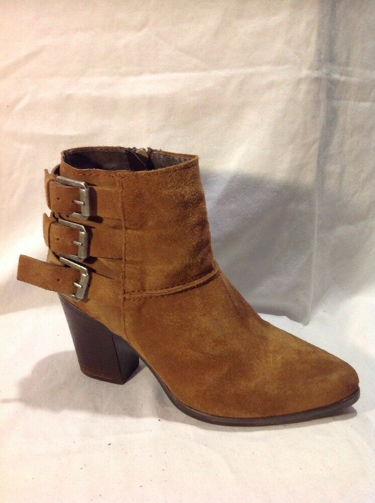 New Look Brown Ankle Suede Boots Size 5