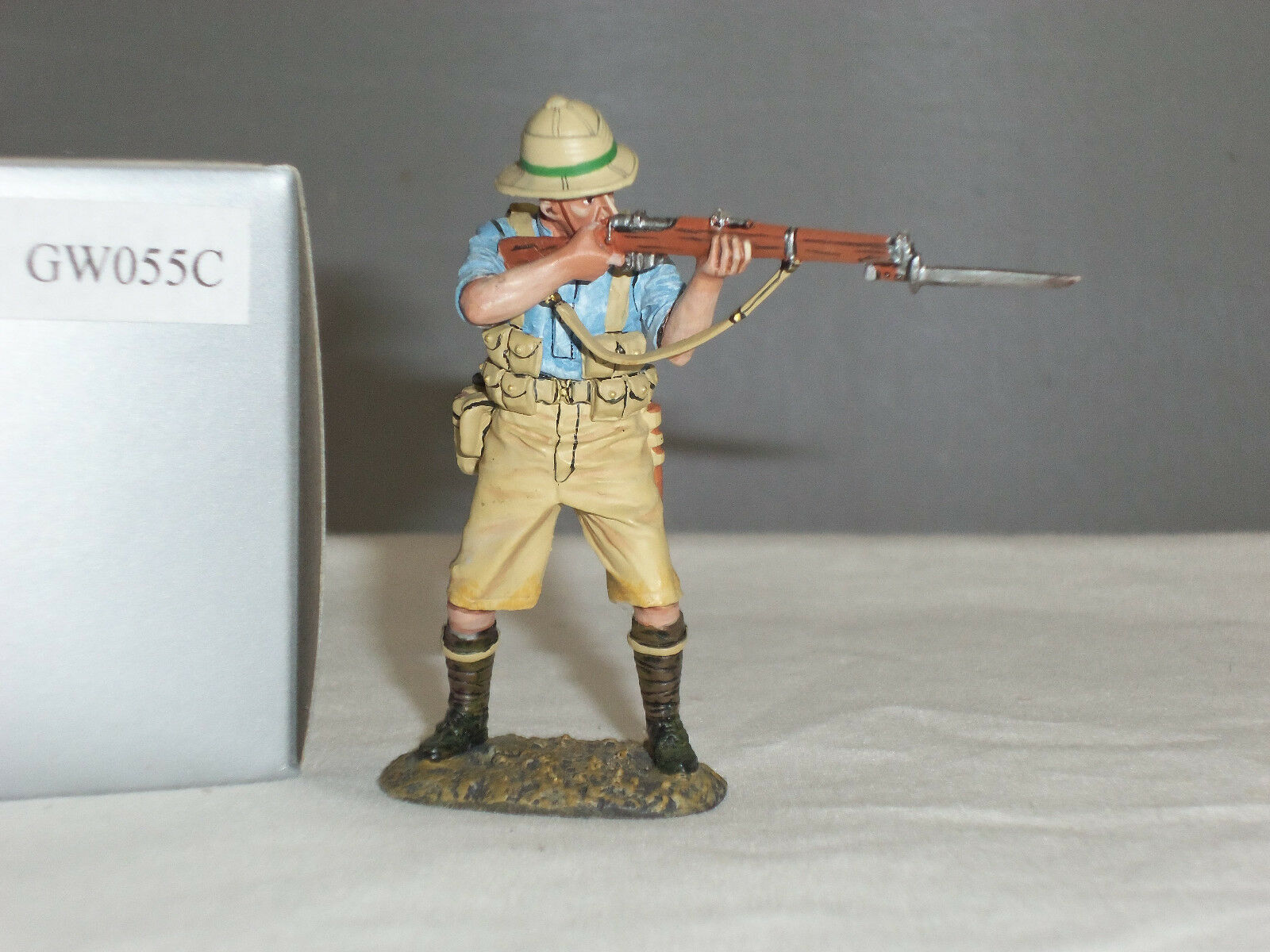 THOMAS GUNN GW055C BRITISH RIFLEMAN STANDING FIRING WORLD WAR ONE TOY SOLDIER