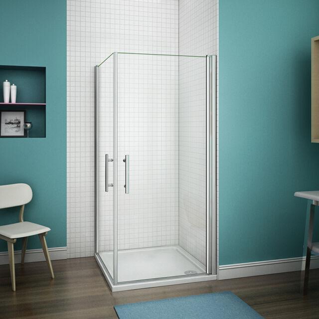 800x900 Frameless Pivot Shower Enclosure Cubicle Glass Door Screen ...