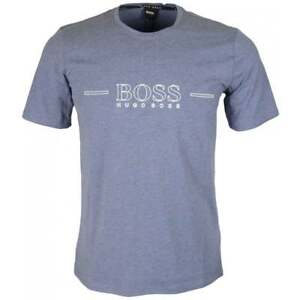 dde18ec2 Hugo Boss Black RN Urban Cotton Slim Fit Blue T-Shirt | eBay