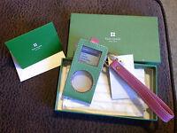 Kate Spade Ny Mini Ipod Case Apple Rasberry Katy Green Pink Msrp $55 Leather