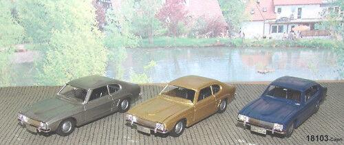 Märklin 18103-02 Ford Capri 1 43 OR   Bleu   gris-NOUVEAU emballage d'origine
