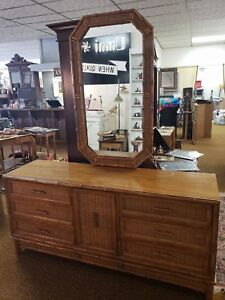 Image Is Loading American Of Martinsville Faux Bamboo 9 Drawer Dresser