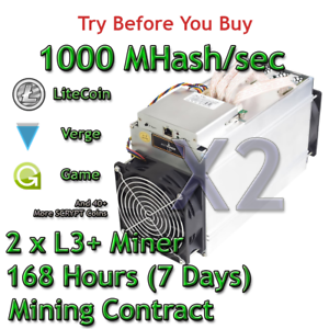 2-x-Bitmain-Antminer-L3-1000-MHash-sec-Guaranteed-7-Days-Mining-Contract-Scrypt