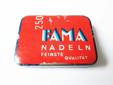 Grammophon NADELDOSE FEINSTE FAMA NADELN gramophone needle tin