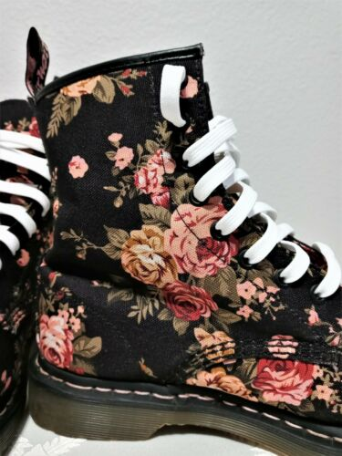 Doc Marten Ankle High Floral Combat Boots - Great