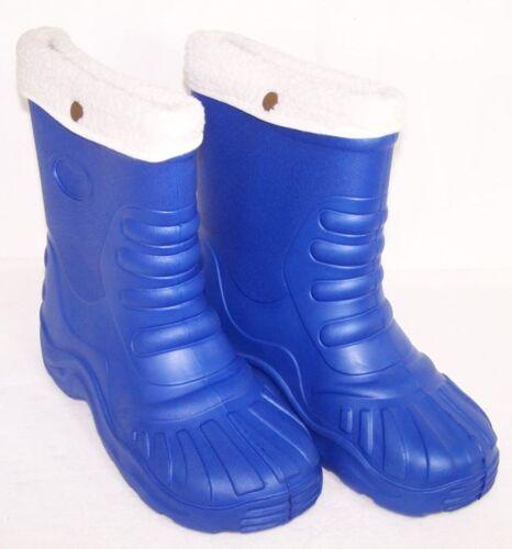 Winterstiefel Gummistiefel gefüttert Stiefel Blau 32//33 Wasserdicht Neu