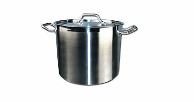 20 QT STAINLESS STEEL BOILING STOCK POT KETTLE WITH LID