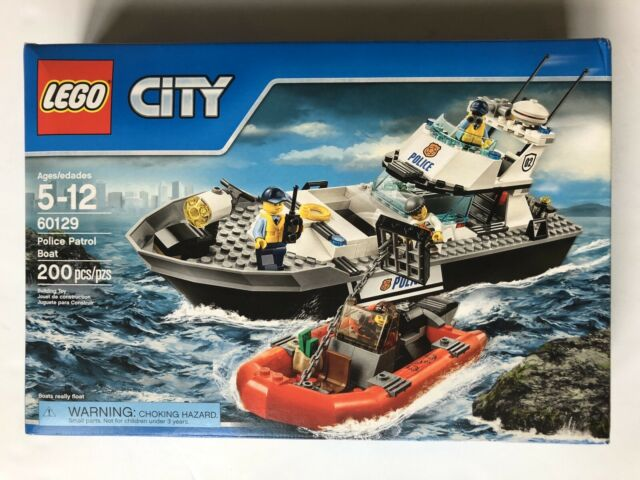 LEGO City 60129 Police Patrol Boat - - New Sealed