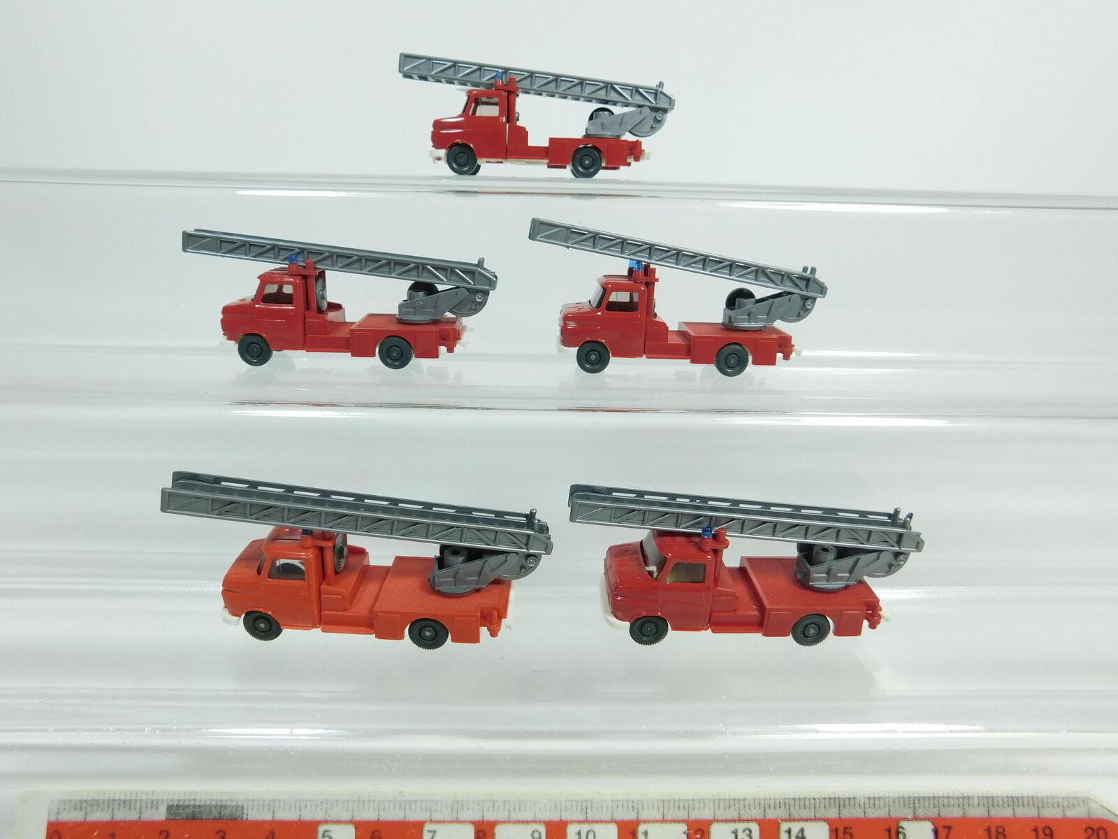 BD347-0,5 x Wiking H0 1 87 602 Carro da Fieno Opel Blitz Pompieri   Fw, Nuovo